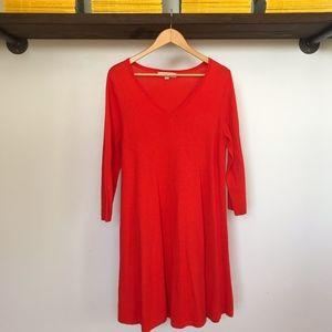 LOFT Dresses - Ann Taylor LOFT Orange V-Neck Dress - Sz. Lg